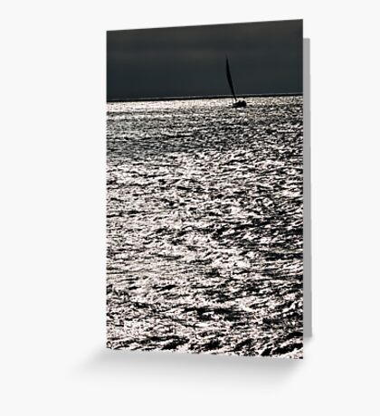 Sailing on silver Greeting Card