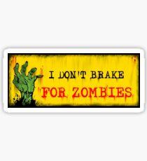 Zombie Bumper Sticker Sticker