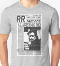 GG Allin Newspaper Arrested Unisex T-Shirt