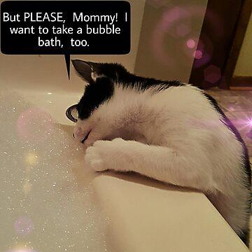 Kitty Want A Bubble Bath?  by Charldia