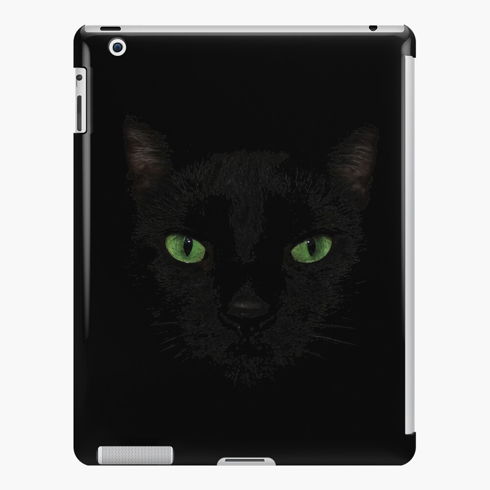 Black Cat Face  iPad Case & Skin