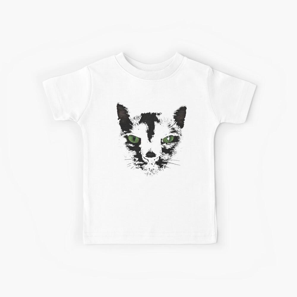 Black Cat Face  Kids T-Shirt