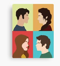 Scott, Allison, Lydia + Stiles Canvas Print