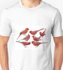 Seven Red Birds A Chirping T-Shirt