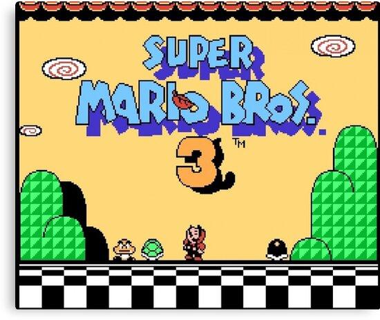 super mario bros 3 title screen\