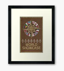 World Showcase Framed Print