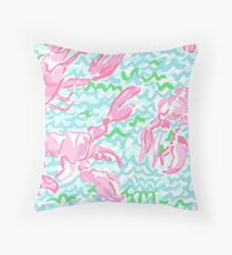 Lilly Pulitzer Lobster Roll iphone 5 and 6 snap case Throw Pillow