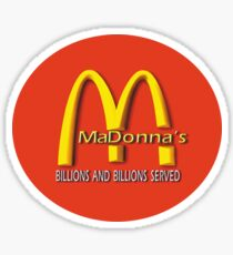 madonna's  (mcDonalds) Sticker