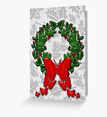 Butterfly wreath Greeting Card