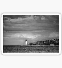 Lighthouse at Wingaersheek, Gloucester, MA II Sticker