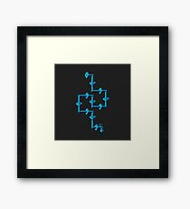 ice pipe line Framed Print
