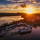 Noosa Marina Sunset 2 by Sam Frysteen