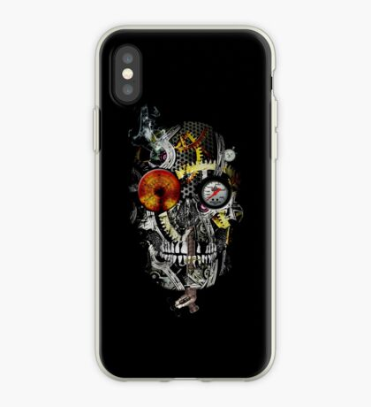 steam powered skull iPhone Case