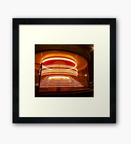 Merry-go-round and round and round! Framed Print