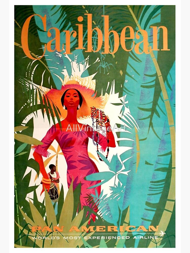 Cartel de viaje del Caribe Vintage de AllVintageArt