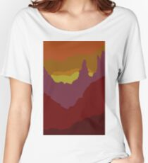 Abstract Sunset Landscape Mountain Scene Women's Relaxed Fit T-Shirt