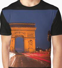 Traffic at Arc de Tiromphe Graphic T-Shirt