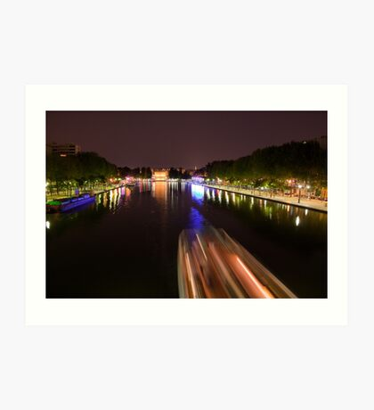 Boat on the canal Art Print