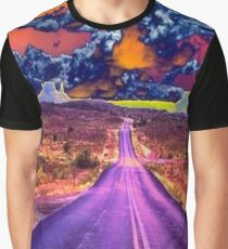 Psychedelic Road Scene Graphic T-Shirt