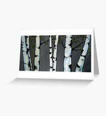 Poplar Trees in a Bunch Greeting Card