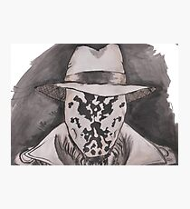 Watchmen - Rorshach Ink Portrait Photographic Print
