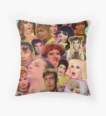 Rpdr Funny queen faces  Throw Pillow