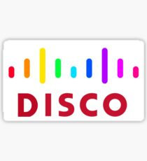 Disco (Cisco Parody) Sticker