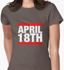 Jim Jefferies April 18th Shirt Womens Fitted T-Shirt