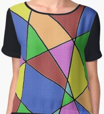 Abstract Funk Chiffon Top