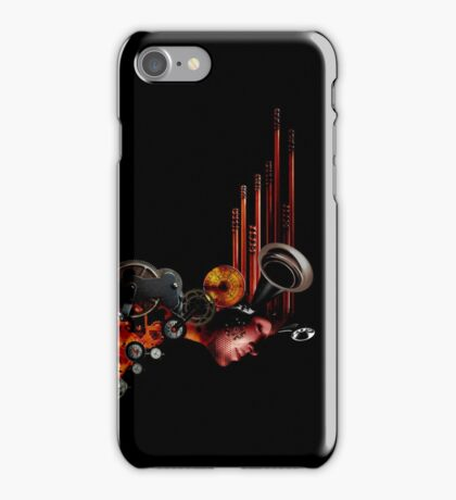 crank-up woman  iPhone Case/Skin