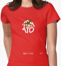 TOMATO - - - - - - - EAT YOUR VEGETABLES Women's Fitted T-Shirt