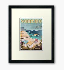 Sorrento Vintage-style Travel Poster Framed Print