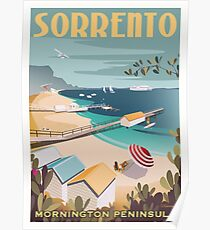 Sorrento Vintage-style Travel Poster Poster