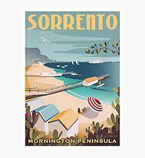 Sorrento Vintage-style Travel Poster Photographic Print