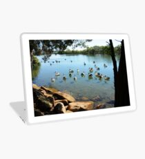Pelicans on Lake Laptop Skin