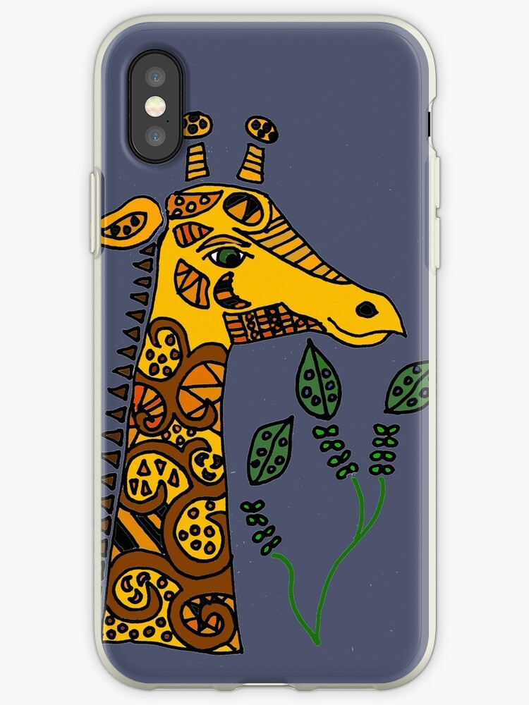 Cool Artsy Fun Giraffe Abstract Art Iphone Case By Naturesfancy