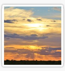 Sunset Background - Tranquil Harmony of Beauty  Sticker