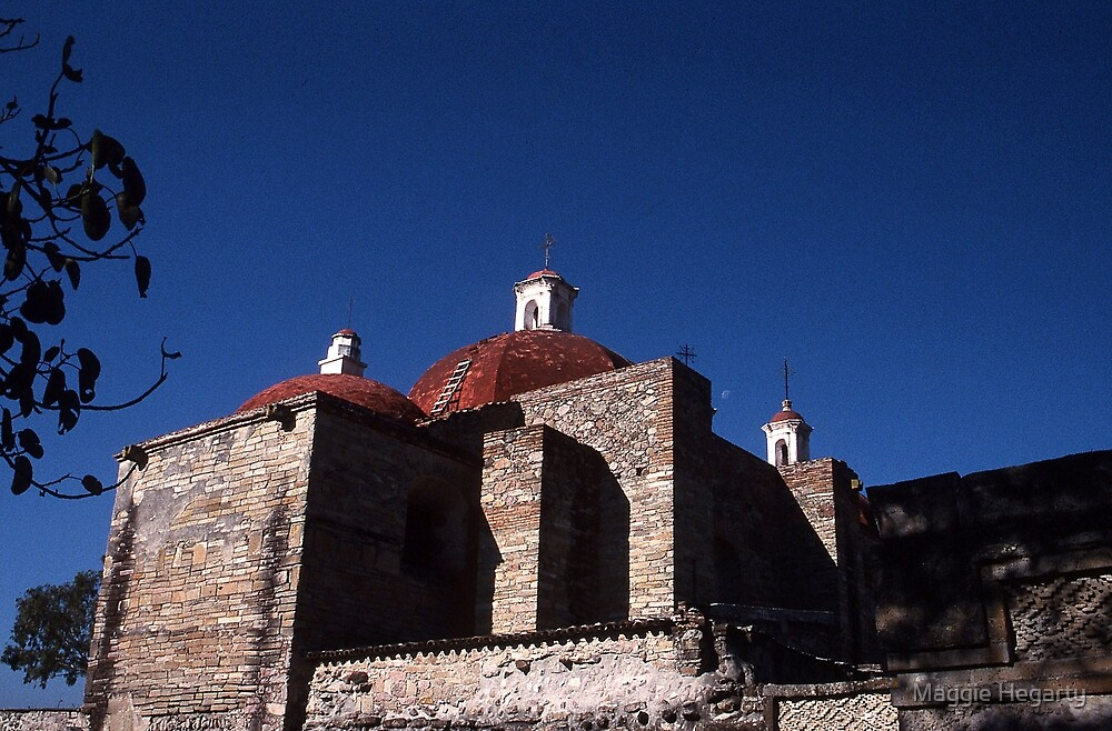Dominican ruins, Mitla, Mexico by Maggie Hegarty