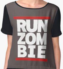 run zombie Chiffon Top