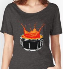 Drum splash Women's Relaxed Fit T-Shirt