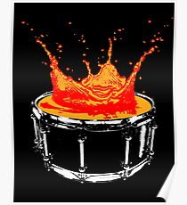 Drum splash Poster