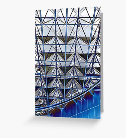 Blue grid Greeting Card
