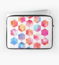 Radiant Hexagons - geometric watercolor painting Laptop Sleeve