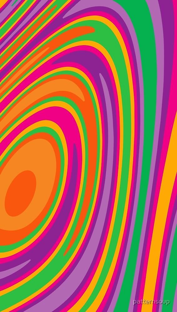 Abstract Hot Neon Multicolor Swirl Design by patternsoup