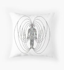 Magnetic Humano IIIII Throw Pillow
