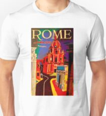 """TWA AIRLINES"" Vintage Fly to Rome Advertising Print Unisex T-Shirt"