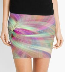 Rainbow Colored Abstract. Concept Divine Virtues Mini Skirt