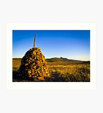 A brick mound at Flinders Ranges, South Australia Art Print