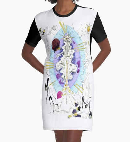 Hecate's Reborn Comic Cover Graphic T-Shirt Dress