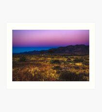 The colours of a Flinders Ranges sunset, South Australia Art Print